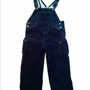 ✨3 for $30✨4T Boys Corduroy Navy Blue Overalls